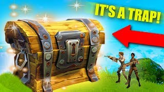 I BUILT A GIANT LOOT CHEST! *TRAP TUNNEL TROLLING!* | Fortnite Battle Royale