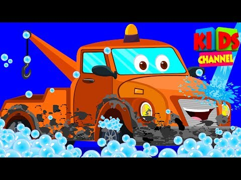 Tow Truck | car wash for kids | vehicle videos