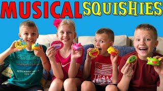 Musical Squishies!!!  Cookies & Playtime with Silly Squeaks