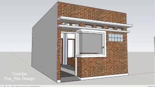 Mendesain Rumah Mikro Lebar 4 Meter x Panjang 7 Meter