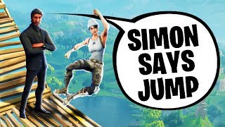 IMPOSSIBlE SIMON SAYS IN FORTNITE! (The Pals Fortnite)