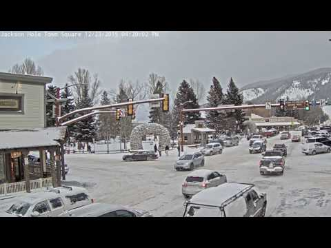 Jackson Town Square Winter Storm Timelapse
