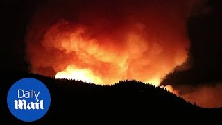 Shocking footage of Gran Canaria fire and smoke billowing into sky