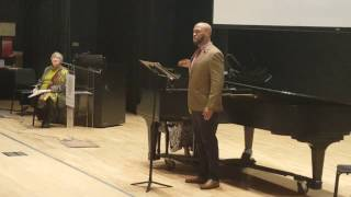 2017 African American Art Song -Tenor Roderick George sings  Burleigh's Till I Wake