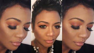 Makeup Fun: Soft Rust Smokey Eye ft Juvia's Place| Nars All Day Weightless Dark Skin