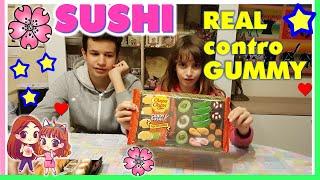 SUSHI VERO CONTRO SUSHI GUMMY!!! Sushi Challenge by Lara, Lele e Babou