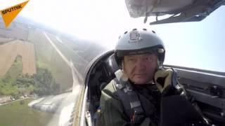 Poroshenko In The Cockpit Of MiG-29 Fighter Aircraft