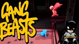 GANG BEASTS  - I'm Batman [Father Vs. Son]