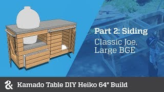 "Kamado Table DIY Heiko 64"" (Part 2)"