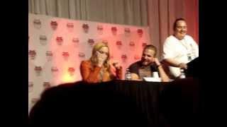 Stephen Amell and Caity Lotz Arrow Panel: Calling Emily Bett Rickards