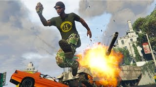 GTA 5 Online - TROLLING WITH A TANK GONE WRONG! (GTA V Online)