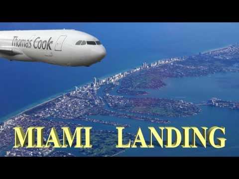 Miami Landing at Miami International Airport, Florida 2016 4K