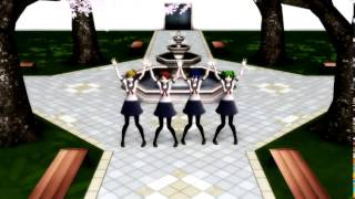 [MMD][Yandere Simulator] Courtyard Song