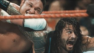 Earth-Shaking footage of Roman Reigns and Samoa Joe collision from Raw