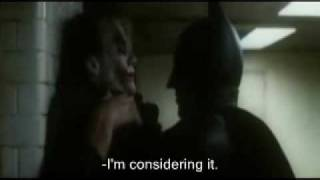 Joker- Heath Ledger best acting (scene) -physco (SUBTITLE)