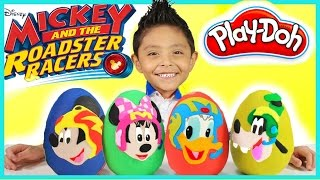 Disney Mickey Mouse and the Roadster Racer Play-doh giant egg Surprise opening disney junior toys