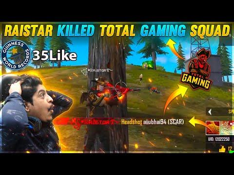 Raistar Killed Ajjubhai94 Full Squad World Record 35 Kills🤣 Garena Free Fire
