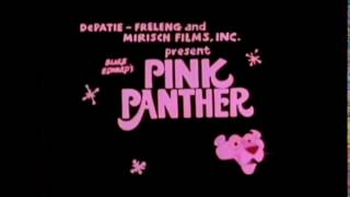 The New Pink Panther Show Pink Blue Plate Title Card With the Flashing Panther (Rare and Exclusive)