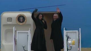 Crowds Gather For Obama Farewell Address