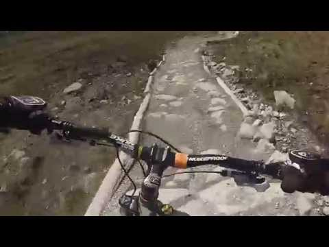 DIY Dad does Fort William World Cup Downhill Black Run!