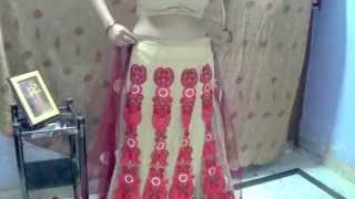 Lehnga Style Saree Draping - Sari Wearing style Tutorial - very easy