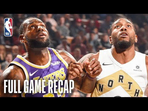 LAKERS vs RAPTORS LeBron James & Kawhi Leonard Battle In Toronto March 14 2019