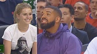 Drake Gets Revenge On Bucks Owners' Daughter After Trolling With Pusha T Shirt In Game 5!