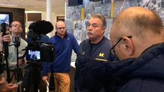 Michigan's Don Brown discusses how much fun he's having, relationship with players