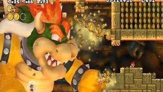 New Super Mario Bros. Wii - Final Boss (Bowser Battle & Ending + Credits)