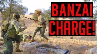 M1919 MACHINE GUN vs. BANZAI CHARGE | Milsim West 1945 World War 2 Airsoft Game