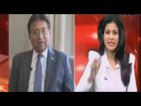 Pervez Musharraf Interview with Hot Indian Female Anchor, Shows the realities.