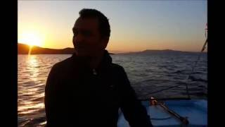 Sunrise while sailing with a Wayfarer dinghy