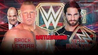 WWE Battleground 2015 Brock Lesnar Vs Seth Rollins (WWE World Heavyweight Championship) Match HD