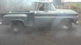 1960 Chevy Truck BURNOUT strong Small Block BIG CAM