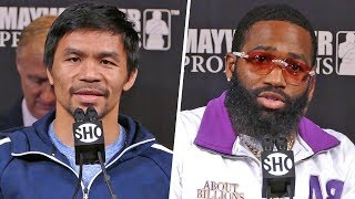 Manny Pacquiao vs. Adrien Broner FINAL PRESS CONFERENCE   ShowTime Boxing
