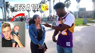 Asking GIRLS to Rate Fortnite YOUTUBERS 1-10 (WILD PUBLIC INTERVIEW!)