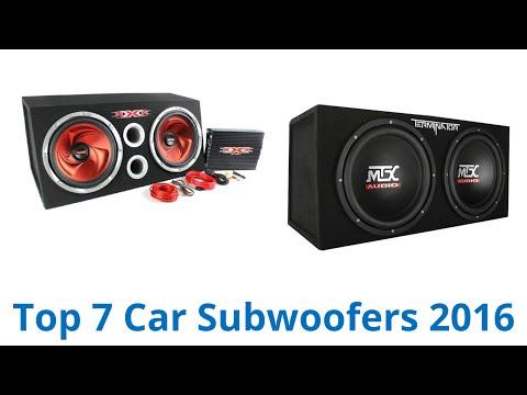 7 Best Car Subwoofers 2016