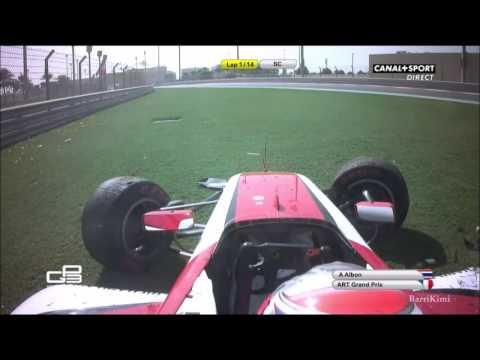 Xxx Mp4 GP3 Series 2016 Abu Dhabi Race2 Albon Big Crash 3gp Sex