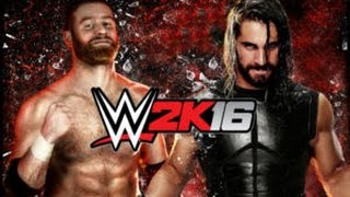 Sami Zayn VS Seth Rollins-WWE 2K16