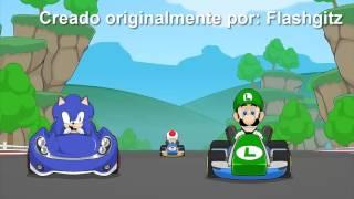 Mario Racista en español /España /Mario Car