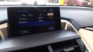 How to reset maintenance reminder on Lexus NX 2015