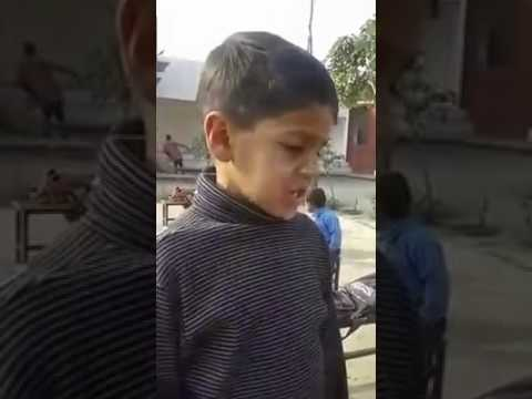 Little student's funny excuses from his teacher | Funny Video | Punjabi | Village School | Viral |