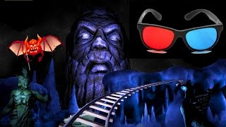Darkness 3D Roller Coaster 3D ANAGLYPH 3D Video Horror HD 1080p