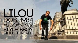 Bboy LILOU Tutorial Part 1 of 4 | YAK FILMS BREAK DANCING in Paris, France