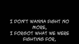 I don't wanna fight Westlife