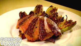 Butter Roasted Rib-Eye Steak with Grilled Artichokes - Gordon Ramsay