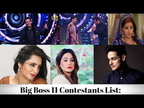 Xxx Mp4 All Contestants Of Bigg Boss 11 Full List With Photos Salman Khan S Show 3gp Sex