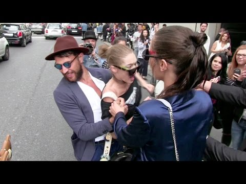OFFICIAL VIDEO - FULL - Gigi Hadid gets attacked in Milan by a prankster and FURIOUSLY fights back