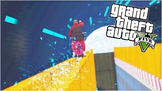 GRINDING FROM THE SKY! (GTA 5 Funny Moments)