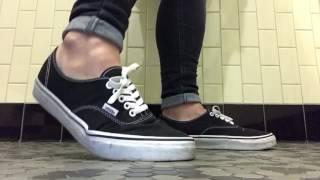 Vans and tan ped socks